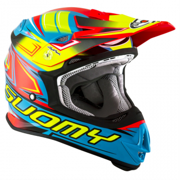 Suomy MR JUMP Off-Road-Helm START cyan/fuxia