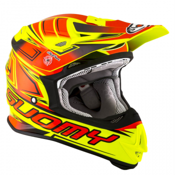 Suomy MR JUMP Off-Road-Helm START neon-gelb/rot