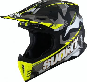 Suomy X-WING Off-Road-Helm CAMOUFLAGER matt-gelb