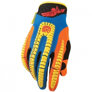 Fly Racing Evolution Handschuhe / Gloves blau-orange-gelb