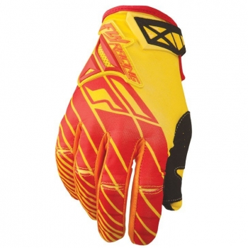 Fly Racing Kinetic Handschuhe / Gloves gelb-rot