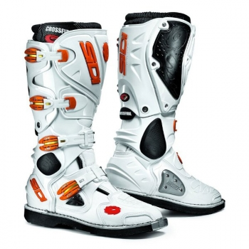 SIDI Crossfire Offroad-Stiefel weiß-orange