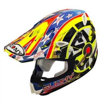 Suomy MR JUMP Off-Road Helm Shots gelb
