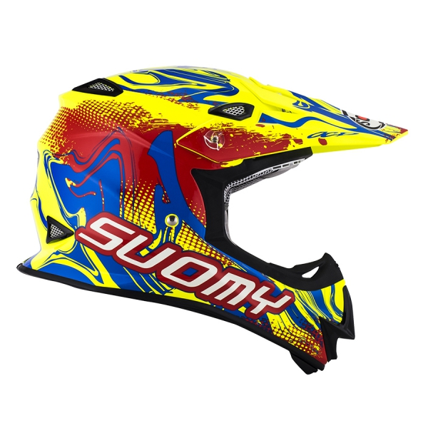 Suomy MR JUMP Off-Road Helm GRAFFITI rot-neongelb