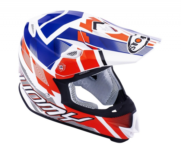 Suomy MR JUMP Off-Road Helm Special weiß/rot/blau