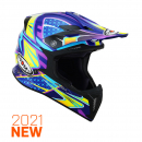 Suomy X-WING Off-Road-Helm DUEL hell-blau/pink